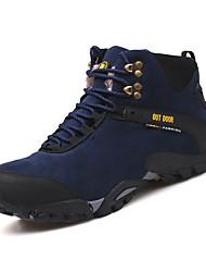 Masculino sapatos Camurça Inverno Outono Conforto Forro de fluff Tênis Aventura Botas Cano Médio Para Casual Preto Azul