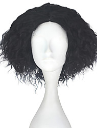 cheap -Synthetic Wig Kinky Curly Black Men's Capless Carnival Wig Halloween Wig Party Wig Lolita Wig Natural Wigs Cosplay Wig Short Synthetic