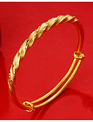 cheap -Women's Bangles Cuff Bracelet Asian Lovely Fashion Gift Gold Plated Twist Circle Jewelry For Wedding Daily
