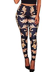 Women's ExtraSheer Print Legging,Floral/Botanical