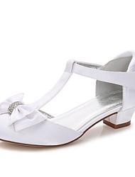 economico -Da ragazza Scarpe Seta Primavera Autunno Cinturino Ballerina Cinturino alla caviglia Scarpe da cerimonia per bambine Tacchi Piccoli per