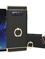 Case For Samsung Galaxy Note 8 Shockproof Plating Ring Holder 360° Rotation Back Cover Solid Color Hard TPU for Note 8
