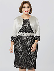 cheap -3/4 Length Sleeve Lace / Satin Wedding / Party / Evening Women's Wrap With Lace Shrugs