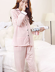 cheap -Women's Babydoll & Slips Pajamas, Solid Opaque Polyester Blue Blushing Pink