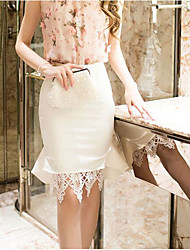 Women's Going out Holiday Knee-length Skirts Bodycon Solid Fall