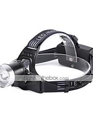 cheap -U'King Headlamps LED 2000 lm 1 3 Mode LED Portable Durable Camping/Hiking/Caving Everyday Use Cycling/Bike Hunting Fishing Black+Sliver