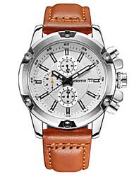 Муж. Повседневные часы Модные часы Нарядные часы Кварцевый Календарь Фосфоресцирующий Кожа Группа На каждый день