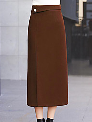 cheap -Women's Going out Basic / Chic & Modern Skirt Skirts - Solid Colored