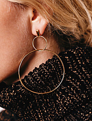 cheap -Women's Drop Earrings Front Back Earrings Cubic Zirconia Metallic Oversized Copper Infinity Jewelry For Party Daily