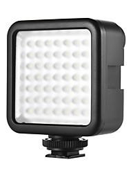 W49 Mini Interlock Camera LED Panel Light Dimmable Camcorder Video Lighting With Shoe Mount Adapter for Canon Nikon Sony A7 DSLR