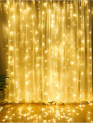 cheap -4m String Lights 300 LEDs Dip Led Warm White / Cold White / Blue Linkable 220-240 V 1pc / IP65