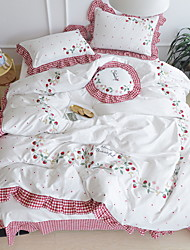 Moderne Polyester/Bomuld Trykt Polyester/Bomuld 1stk Dynebetræk 2stk Betræk 1stk Flad Lagen