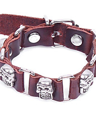 cheap -Men's Bracelet Link Bracelet Vintage Gothic Leather Alloy Circle Jewelry For Halloween Street