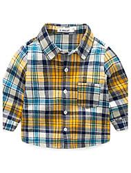 economico -Camicia Da ragazzo Cotone Autunno Manica lunga
