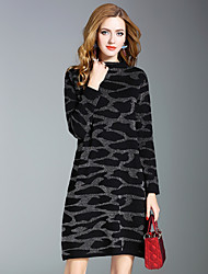 cheap -Women's A Line Dress - Leopard Stand