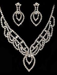cheap -Women's Drop Earrings Necklace Rhinestone Lovely Wedding Party Imitation Diamond Alloy Geometric 1 Necklace Earrings