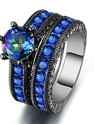 economico -Per donna Zircone cubico Band Ring - Zircone cubico 6 / 7 / 8 Royal Blue Per Matrimonio / Evento
