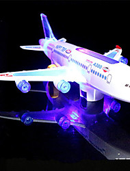 cheap -LED Lighting Model Building Kit Toys Airplane Holiday Birthday Music Noctilucent With Switch Electric Classic Children's Pieces
