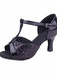preiswerte -Damen Schuhe für den lateinamerikanischen Tanz Paillette / maßgeschneiderte Werkstoffe Absätze Pailetten Stöckelabsatz Maßfertigung
