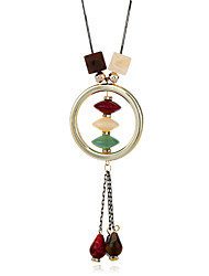 cheap -Women's Casual Ethnic Korean Sweet Fashion Pendant Necklace Resin Copper Pendant Necklace , Party Valentine