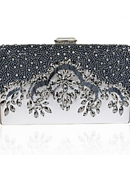 cheap -Women's Bags PVC Evening Bag Crystals Black / Red / Gray
