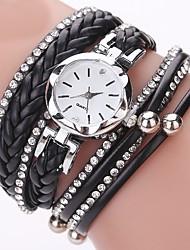 cheap -Women's Casual Watch Fashion Watch Unique Creative Watch Chinese Quartz Chronograph PU Band Casual Christmas Black Blue Silver Red Gold