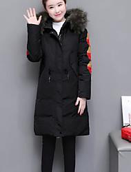 Dámské Dlouhé Dlouhý kabát Jednoduchý Denní nošení Lolita-Kabát Polyester Dlouhý rukáv