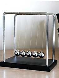 cheap -Newton Cradle Balance Ball Educational Toy Stress Reliever Gravity Type Office Desk Toys Stress and Anxiety Relief Metal Ornament