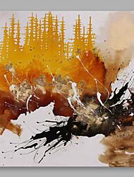 手描きの 抽象画 方形, 近代の キャンバス ハング塗装油絵 ホームデコレーション 1枚
