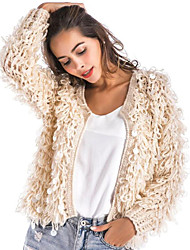 Long Sleeves Acrylic Wedding Party / Evening Women's Wrap With Sequins Tassel Coats / Jackets