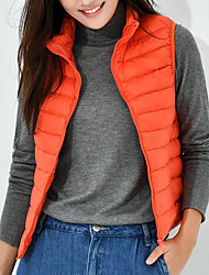 cheap -Women's Basic Vest - Solid Colored Stand