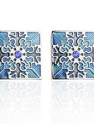 Недорогие -Цветы Синий Запонки Медь Романтика Новый год Муж. Бижутерия
