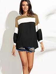 cheap -Women's Polyester Blouse - Color Block