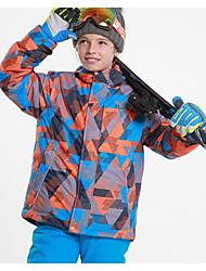 Недорогие -Phibee Детские Лыжная куртка Теплый Водонепроницаемость С защитой от ветра Пригодно для носки Воздухопроницаемость Катание на лыжах
