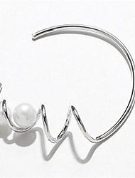 Žene Široke narukvice Imitacija Pearl Osnovni Moda Legura Valovi Jewelry Za Dnevno Spoj