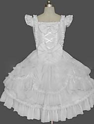 cheap -Sweet Lolita Dress Princess Women's Girls' One Piece Dress Cosplay Cap Sleeveless Short / Mini