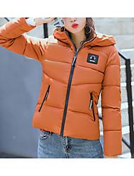 Dámské S vycpávkou Sofistikované Běžné/Denní Písmeno-Kabát Bavlna Polyester Dlouhý rukáv