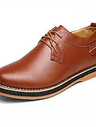 Men's Shoes PU Spring Fall Formal Shoes Oxfords Lace-up for Party & Evening Office & Career Brown Black Blue