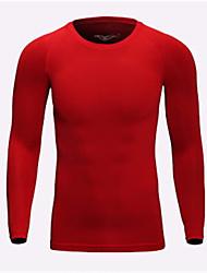 preiswerte -Herrn Laufshirt Langarm Schnelles Trocknung Atmungsaktivität T-shirt Sweatshirt für Milchfieber Eng Rot Blau Grau S M L XL XXL