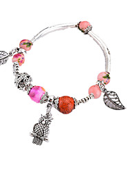 cheap -Women's Charm Bracelet Onyx Animals Fashion China Alloy Leaf Irregular Jewelry For Daily Office & Career