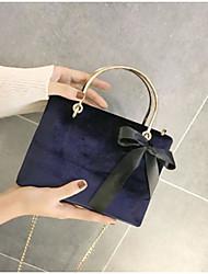 Women Bags Velvet Shoulder Bag Zipper for Casual All Seasons Blue Black Dark Green Wine