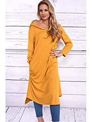 cheap -Women's Casual T Shirt Dress - Solid Colored High Rise