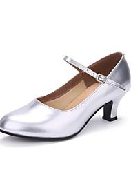 cheap -Women's Modern Leather Heel Pearl Customized Heel Silver Customizable