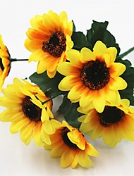 cheap -5 Branch Plastic Others Others Sunflowers Tabletop Flower Artificial Flowers
