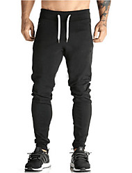 cheap -Men's Vintage Skinny Sweatpants Pants - Solid, Pleated