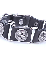 cheap -Men's Link Bracelet Bracelet Vintage Rock Leather Alloy Circle Jewelry Casual Club Costume Jewelry