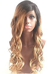 cheap -Women Human Hair Lace Wig Brazilian Human Hair Glueless Lace Front 130% Density Bob Haircut Layered Haircut With Baby Hair With Ponytail
