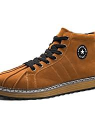 Da uomo Scarpe Cashmere Primavera Autunno Comoda Sneakers Per Casual Nero Marrone