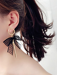 cheap -Women's Drop Earrings Fashion Korean Fabric Alloy Bowknot Jewelry Party Daily Costume Jewelry
