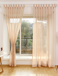 cheap -Rod Pocket Grommet Top Tab Top Double Pleat Curtain Contemporary Casual Bohemian Transitional , Embroidery Solid Bedroom Polyester